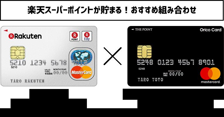 楽天スーパーポイントが貯まるおすすめクレジットカードの組み合わせ (1)